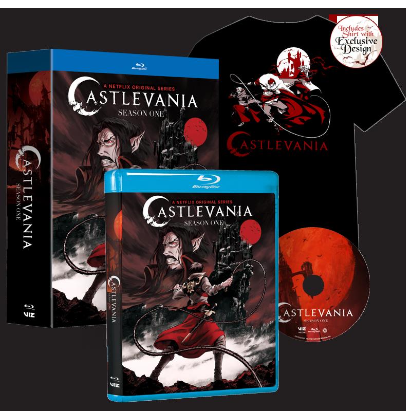VIZ   See Castlevania, Season 1 with T-Shirt (Walmart Exclusive)