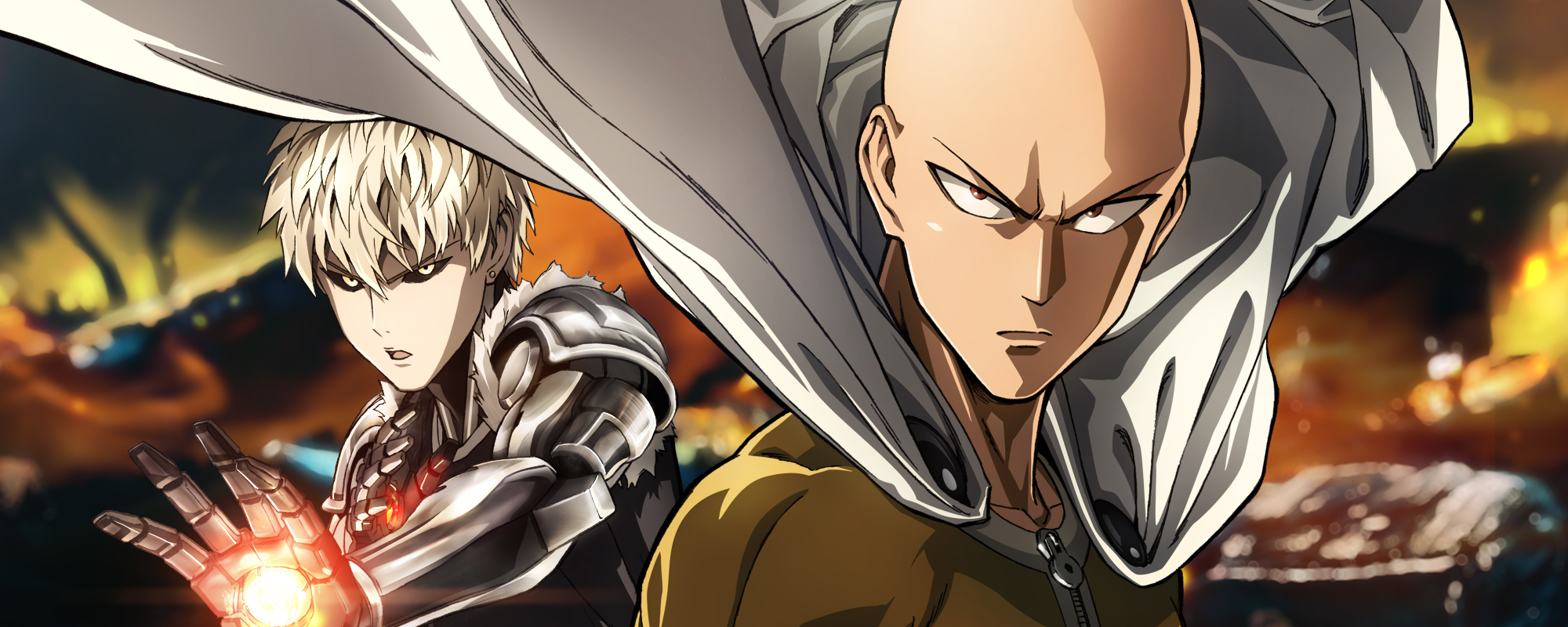 VIZ Media, LLC. ONE-PUNCH MAN © 2012 by ONE, Yusuke Murata/SHUEISHA Inc. | Saitama and Genos from One-Punch Man